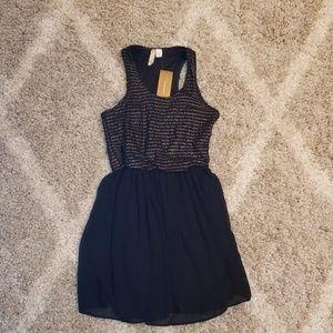 Black dress with gold details